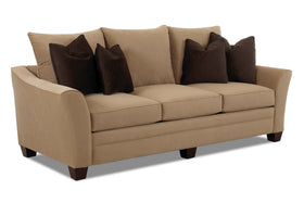 "Eugene ""Custom Value"" 99 Inch Track Arm Transitional Fabric Upholstered Sofa"