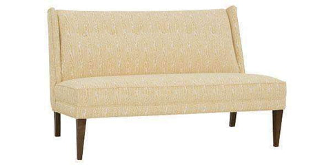 Fabric Furniture Anastasia Fabric Upholstered Armless Settee