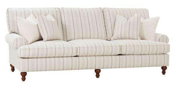 "Fabric Furniture Brin ""Designer Style"" Grand Scale Sofa"