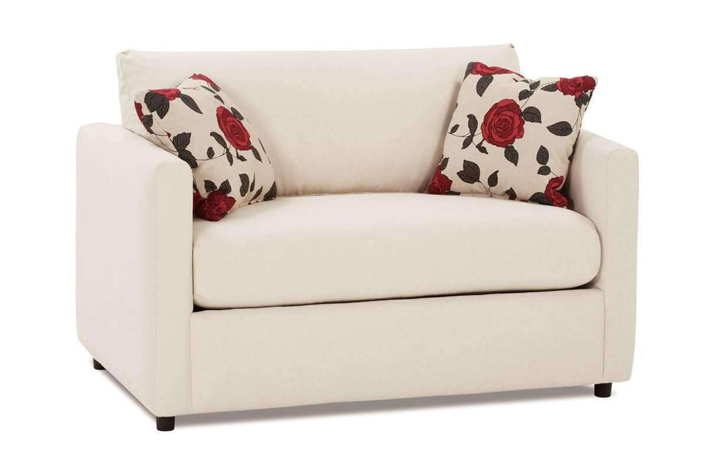 Picture of: City Fabric Upholstered Loveseat Twin Sleeper Club Furniture