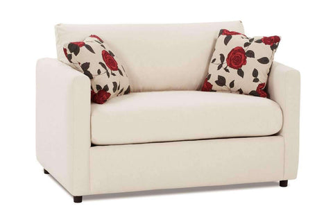Fabric Furniture City Pillow Back Twin Sleeper Fabric Loveseat