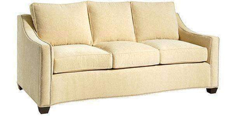 Fabric Furniture Dionne Fabric Nail-Trim Pillow back Sofa