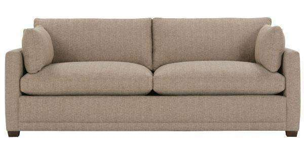 Fabric Furniture Donna Two Cushion Or Single Bench Seat Fabric Sofa With Track Arms