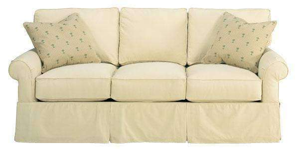 Emily Fabric Upholstered Faux Slipcover Queen Sleeper Sofa