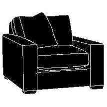 "Fabric Furniture Faye ""Designer Style"" Modern Oversized Chair"