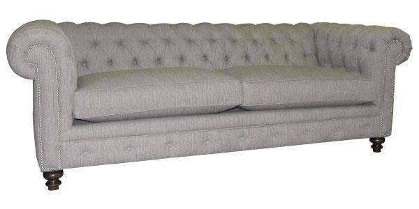 Fabric Furniture Hastings Fabric Upholstered Chesterfield Queen Sleep Sofa