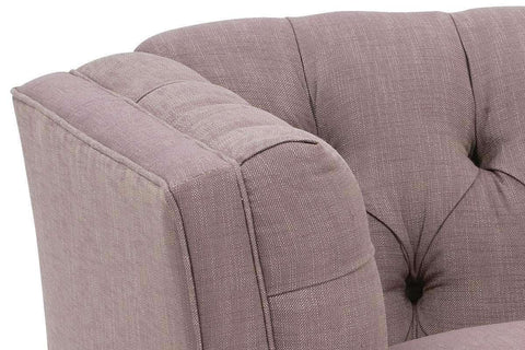 Fabric Furniture Isadore Fabric Upholstered Tufted Back Arm Chair