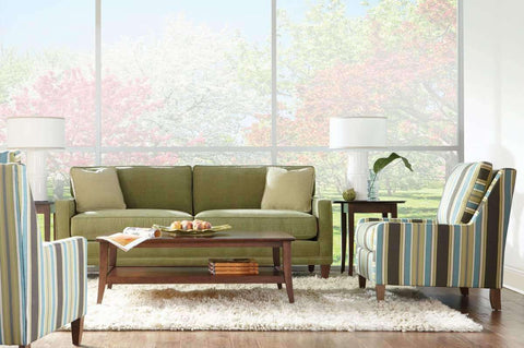 "Fabric Furniture Janice ""Designer Style"" Contemporary 2 Seat Fabric Upholstered Sofa"