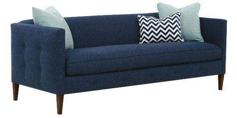 Fabric Furniture Jeanette Modern Button Trimmed Sofa