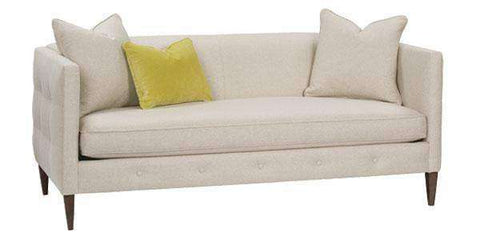 Fabric Furniture Jeanette Small Contemporary Apartment Size Sofa