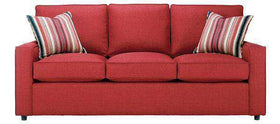 "Fabric Furniture Jennifer ""Designer Style"" Track Arm Fabric Upholstered Queen Sleeper Sofa"