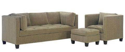 Fabric Furniture Keaton Fabric Upholstered Queen Sleeper Sofa Set