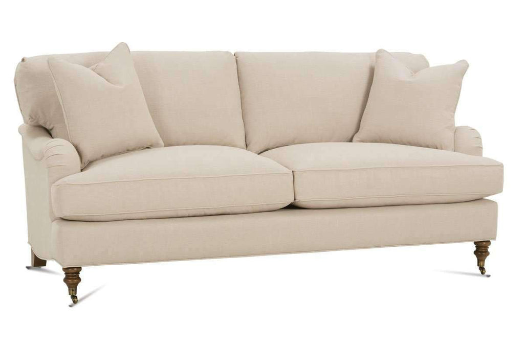 Kristen English Arm Fabric 2 Cushion Apartment Size Sofa