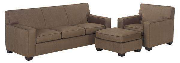 Fabric Furniture Luke Fabric Upholstered Studio Full Sleeper Set