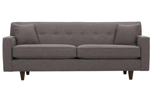 Fabric Furniture Margo Mid Century Modern Button Back Track Arm Sofa