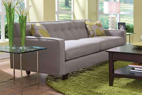 Fabric Furniture Margo Mid Century Modern Sleeper Sofa With Button Back