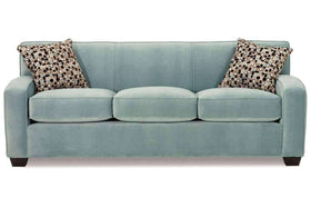 Fabric Furniture Michelle Queen Size Tight Back Three Seat Fabric Sleeper Sofa