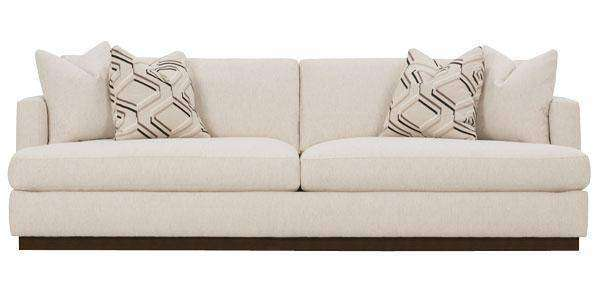 Fabric Furniture Nanette Retro Oversized T-Cushion Sofa With Wooden Base