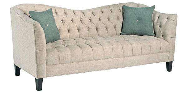 Fabric Furniture Rose Tufted Shelter Arm Loveseat