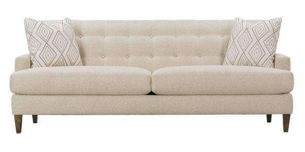 Fabric Furniture Shawna Button Back Mid-Century Modern Sofa