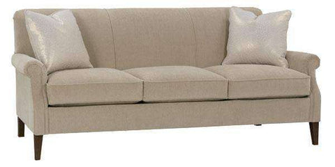Fabric Furniture Sondra Tight Back Traditional Condo Size Sofa
