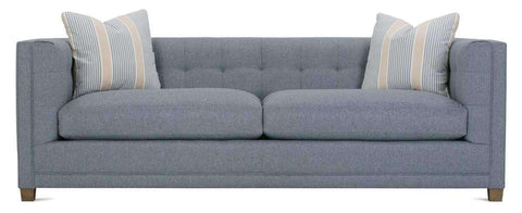 "Fabric Furniture Tiffany 88"" Fabric Upholstered Biscuit Tufted Sofa With Track Arms"