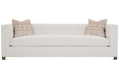"Fabric Furniture Tiffany 96"" Traditional Fabric Sofa With Biscuit Tufted Back"