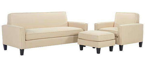 Fabric Furniture Zoe Fabric Upholstered Studio Sofa Set