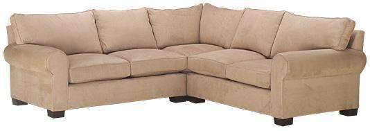 Fabric Sectional Sofa Bailey 3 Piece Fabric Roll Arm Oversized Sectional  (As Configured)