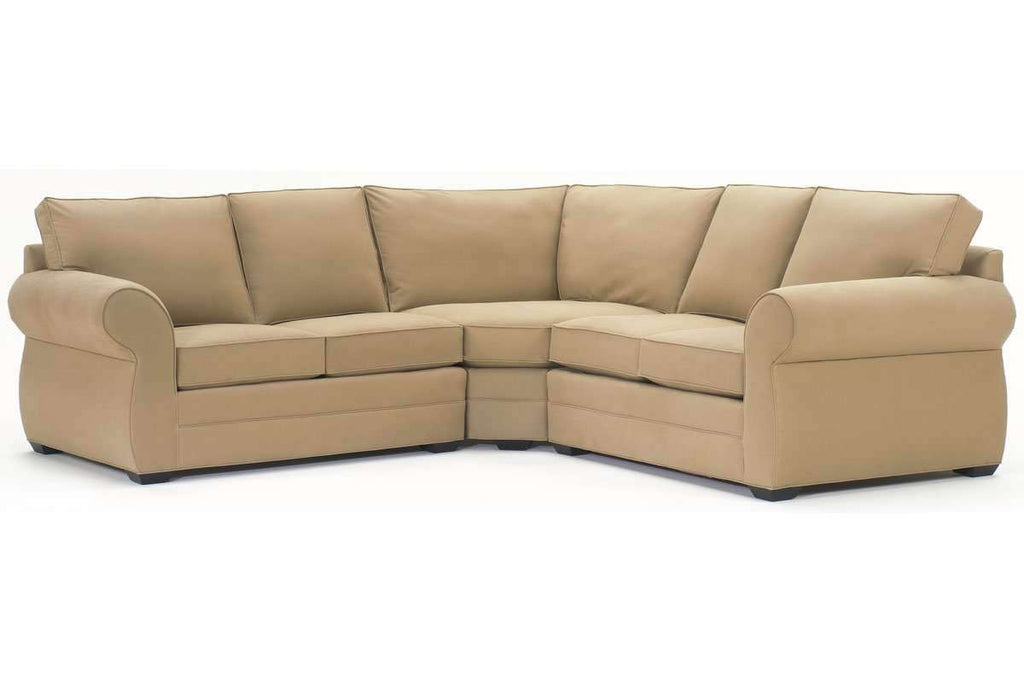 Brooke Modular 3 Piece Fabric Upholstered Sectional (As Configured)
