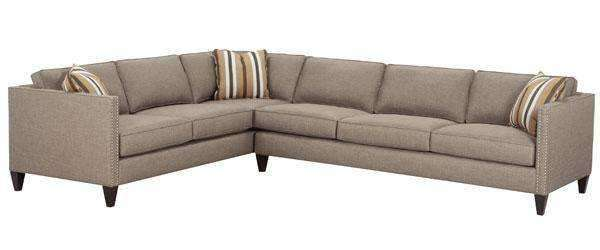 Fabric Sectional Sofa Connie Contemporary Two Piece Fabric Sectional With Tuxedo Arms (As Configured)