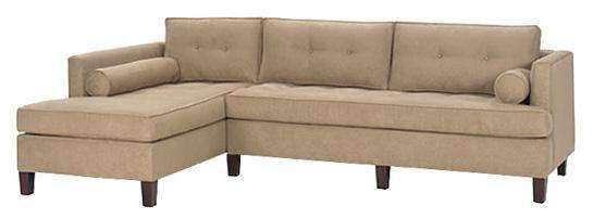 Fabric Sectional Sofa Cosmopolitan Mid Century Modern Two Piece Fabric Sectional With Chaise (As Configured)