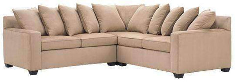 Fabric Sectional Sofa Dalton 3 Piece Scatter Back Fabric Sectional Sofa (As Configured)