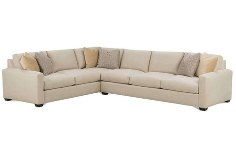 "Fabric Sectional Sofa Diana ""Designer Style"" 2 Piece Sectional (As Configured)"