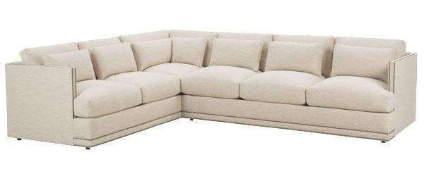 Fabric Sectional Sofa Gretchen Contemporary Fabric Upholstered Sectional Sofa With Nails (As Configured)