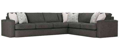 "Fabric Sectional Sofa Hazel "" Designer Style"" 2 Piece Sectional (As Configured)"
