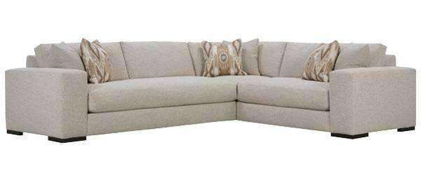 Hilda Designer Stye 3 Piece Sectional - (As Pictured)