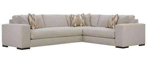 "Fabric Sectional Sofa Hilda ""Designer Stye"" 3 Piece Sectional - (As Configured)"