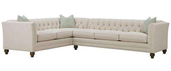"Fabric Sectional Sofa Isadore ""Designer Style"" 2-Piece Tufted Fabric Sectional Sofa (As Configured)"