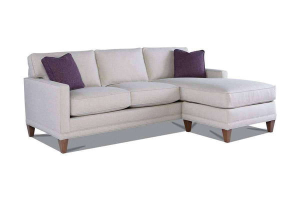 Janice Contemporary Sofa With Reversible Chaise Sectional