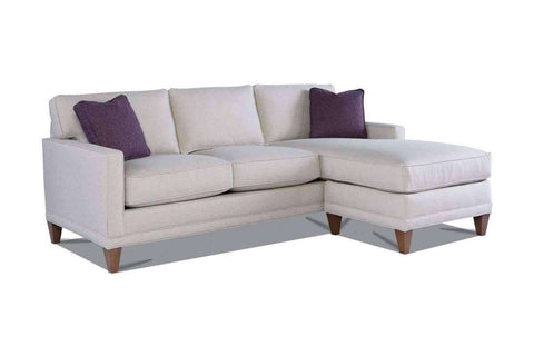 Fabric Sectional Sofa Janice Contemporary Sofa With Reversible Chaise Sectional