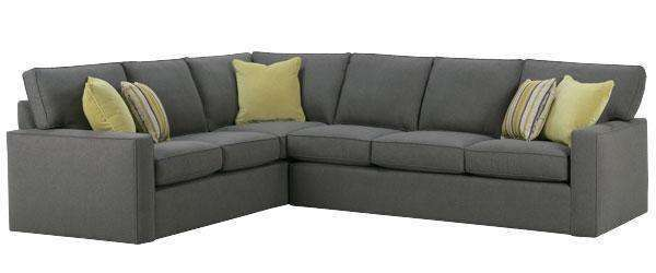 Jennifer 2 Piece Contemporary Fabric Track Arm Sectional Sofa (As ...