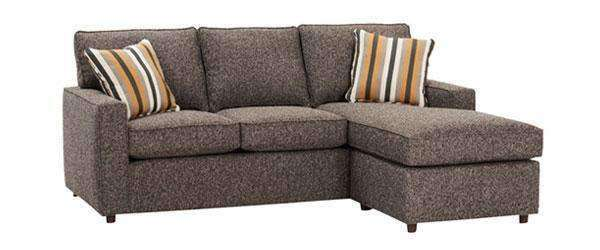 Jennifer Apartment Size Track Arm Reversible Chaise Sectional Sofa
