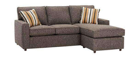 Fabric Sectional Sofa Jennifer Apartment Size Track Arm Reversible Chaise Sectional Sofa