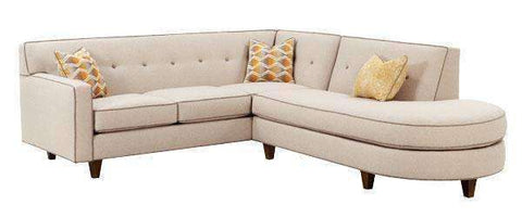 Fabric Sectional Sofa Justine Two Piece Sectional With Chaise Bumper Chaise (Version 1 As Configured)