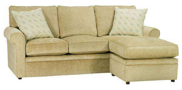 Fabric Sectional Sofa Kyle Apartment Size Rolled Arm Sectional Sofa With Reversible Chaise
