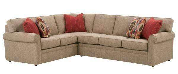 Fabric Sectional Sofa Kyle Traditional Pillow Back Two Piece Fabric  Sectional Sofa (As Configured)