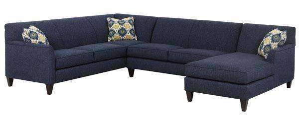 Lyla Contemporary Two PieceFabric Upholstered Tight Back Sectional