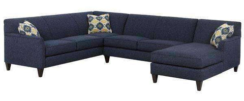Fabric Sectional Sofa Lyla Contemporary Two PieceFabric Upholstered Tight Back Sectional (As Configured)