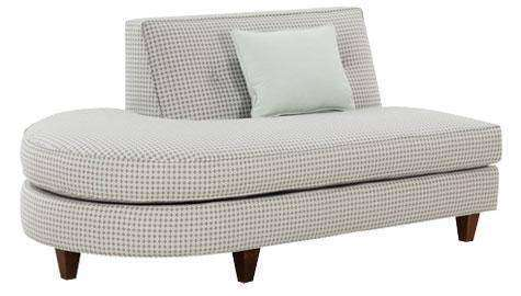 "Fabric Sectional Sofa Margo ""Designer Style"" Left Facing Chaise Bumper"